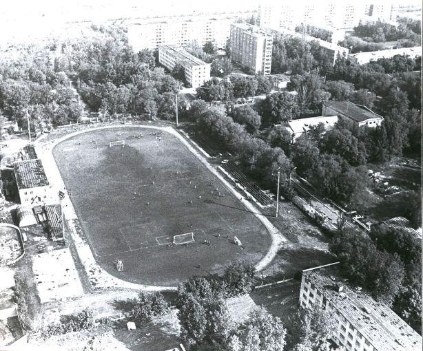 Стадион Нефтяник. вид сверху.