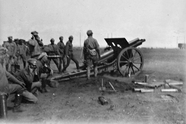 чешская батарея в бою под Липягами
